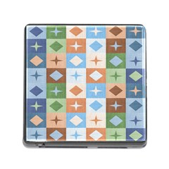 Fabric Textile Textures Cubes Memory Card Reader (square)