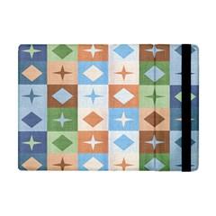 Fabric Textile Textures Cubes Apple Ipad Mini Flip Case