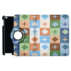 Fabric Textile Textures Cubes Apple Ipad 3/4 Flip 360 Case
