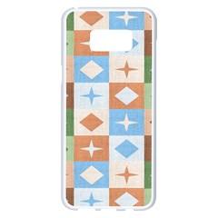 Fabric Textile Textures Cubes Samsung Galaxy S8 Plus White Seamless Case
