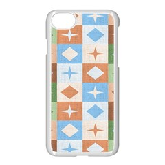 Fabric Textile Textures Cubes Apple Iphone 8 Seamless Case (white)