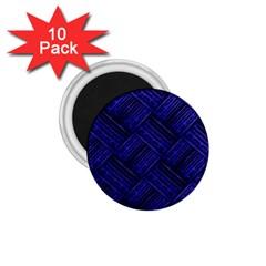 Cobalt Blue Weave Texture 1 75  Magnets (10 Pack)