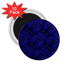 Cobalt Blue Weave Texture 2 25  Magnets (10 Pack)