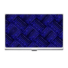 Cobalt Blue Weave Texture Business Card Holders