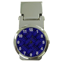 Cobalt Blue Weave Texture Money Clip Watches