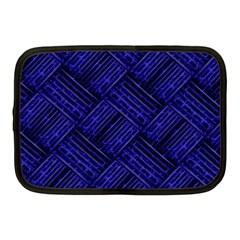 Cobalt Blue Weave Texture Netbook Case (medium)