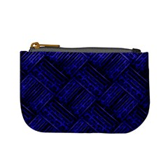 Cobalt Blue Weave Texture Mini Coin Purses