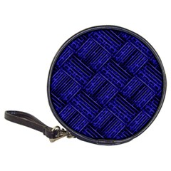 Cobalt Blue Weave Texture Classic 20 Cd Wallets