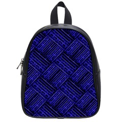 Cobalt Blue Weave Texture School Bag (small)