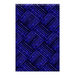 Cobalt Blue Weave Texture Shower Curtain 48  X 72  (small)