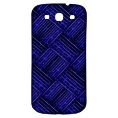 Cobalt Blue Weave Texture Samsung Galaxy S3 S Iii Classic Hardshell Back Case