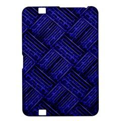 Cobalt Blue Weave Texture Kindle Fire Hd 8 9