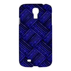 Cobalt Blue Weave Texture Samsung Galaxy S4 I9500/i9505 Hardshell Case
