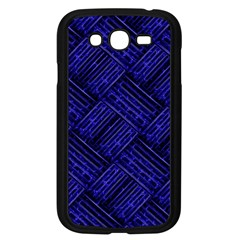 Cobalt Blue Weave Texture Samsung Galaxy Grand Duos I9082 Case (black)