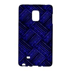 Cobalt Blue Weave Texture Galaxy Note Edge
