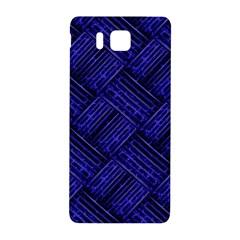 Cobalt Blue Weave Texture Samsung Galaxy Alpha Hardshell Back Case