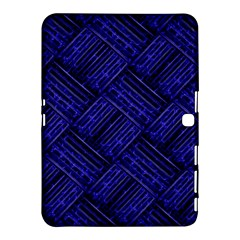 Cobalt Blue Weave Texture Samsung Galaxy Tab 4 (10 1 ) Hardshell Case