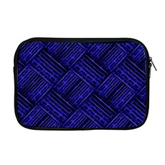 Cobalt Blue Weave Texture Apple Macbook Pro 17  Zipper Case
