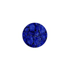 Neon Abstract Cobalt Blue Wood 1  Mini Buttons