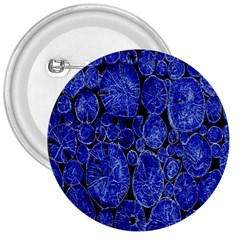 Neon Abstract Cobalt Blue Wood 3  Buttons