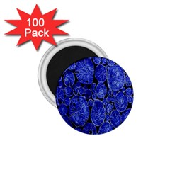 Neon Abstract Cobalt Blue Wood 1 75  Magnets (100 Pack)