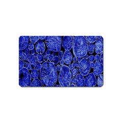 Neon Abstract Cobalt Blue Wood Magnet (name Card)