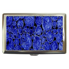 Neon Abstract Cobalt Blue Wood Cigarette Money Cases