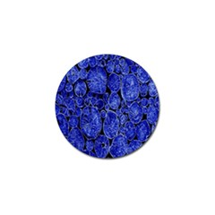 Neon Abstract Cobalt Blue Wood Golf Ball Marker (4 Pack)