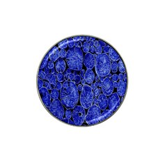 Neon Abstract Cobalt Blue Wood Hat Clip Ball Marker (10 Pack)
