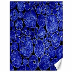 Neon Abstract Cobalt Blue Wood Canvas 36  X 48