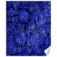 Neon Abstract Cobalt Blue Wood Canvas 11  X 14