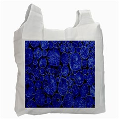 Neon Abstract Cobalt Blue Wood Recycle Bag (two Side)