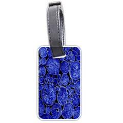 Neon Abstract Cobalt Blue Wood Luggage Tags (two Sides)