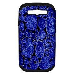 Neon Abstract Cobalt Blue Wood Samsung Galaxy S Iii Hardshell Case (pc+silicone)