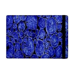 Neon Abstract Cobalt Blue Wood Apple Ipad Mini Flip Case