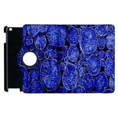 Neon Abstract Cobalt Blue Wood Apple Ipad 2 Flip 360 Case