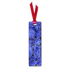 Neon Abstract Cobalt Blue Wood Small Book Marks