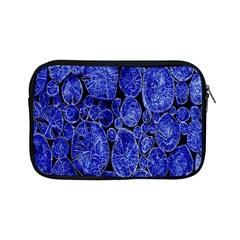 Neon Abstract Cobalt Blue Wood Apple Ipad Mini Zipper Cases