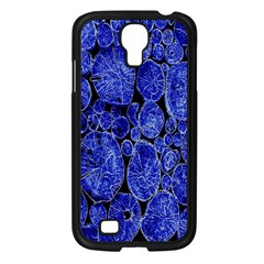 Neon Abstract Cobalt Blue Wood Samsung Galaxy S4 I9500/ I9505 Case (black)