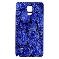 Neon Abstract Cobalt Blue Wood Galaxy Note 4 Back Case