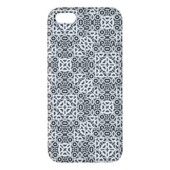 Black And White Oriental Ornate Apple Iphone 5 Premium Hardshell Case by dflcprints