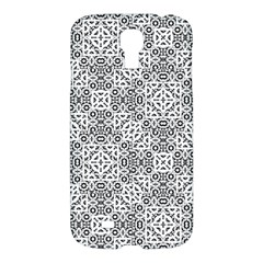 Black And White Oriental Ornate Samsung Galaxy S4 I9500/i9505 Hardshell Case by dflcprints