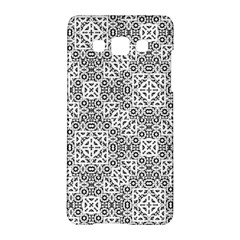 Black And White Oriental Ornate Samsung Galaxy A5 Hardshell Case  by dflcprints