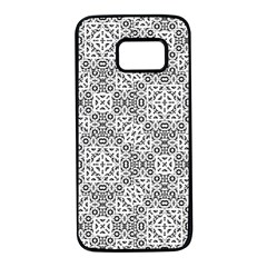Black And White Oriental Ornate Samsung Galaxy S7 Black Seamless Case by dflcprints