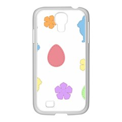 Easter Patches  Samsung Galaxy S4 I9500/ I9505 Case (white) by Valentinaart