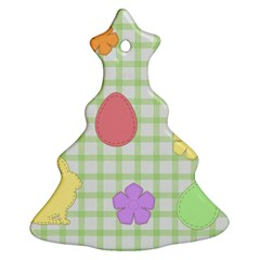 Easter Patches  Ornament (christmas Tree)  by Valentinaart