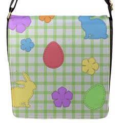 Easter Patches  Flap Messenger Bag (s) by Valentinaart