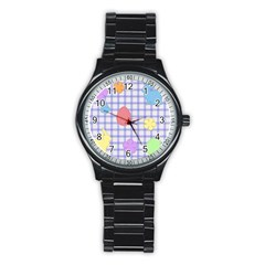 Easter Patches  Stainless Steel Round Watch by Valentinaart