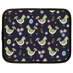 Easter Pattern Netbook Case (xl)  by Valentinaart
