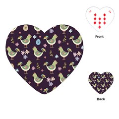 Easter Pattern Playing Cards (heart)  by Valentinaart